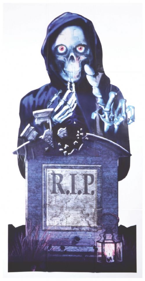 Halloween R.I.P Door Cover Sign Trick Or Treat Party Decoration